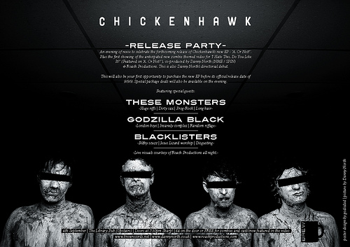 Chickenhawk zombie music video trailer   release party news