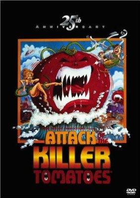 Attack of the Killer Tomatoes!    Attack of the Killer Tomatoes poster sci fi reviews horror comedy