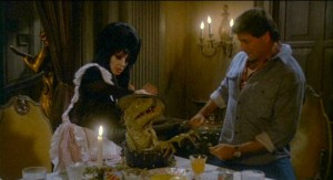 Elvira, Mistress Of The Dark   Elvira soupmonsterCR 300x163 reviews horror comedy