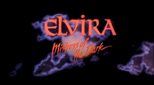 Elvira, Mistress Of The Dark   Elvira title screenCR 500x275 reviews horror comedy