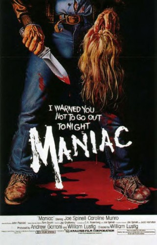 Maniac   Maniac 1980 poster CR 321x500 reviews horror