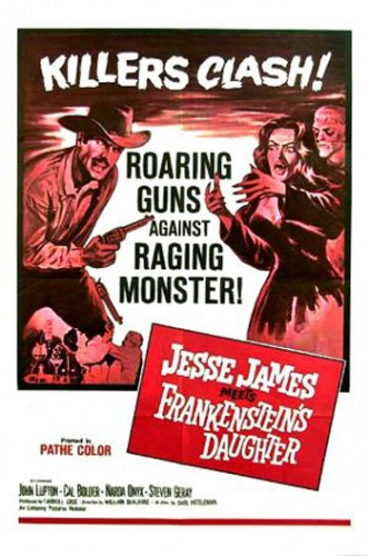 Jesse James Meets Frankensteins Daughter   JJMFD poster01 332x500 western sci fi reviews horror