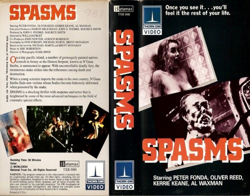 Spasms   spasms vhs cover 03 500x391 reviews horror