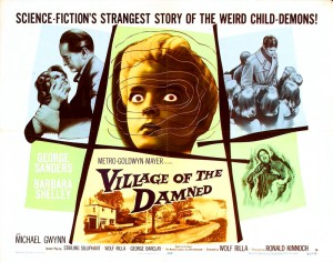 Village Of The Damned   village of damned poster 02 300x236 sci fi reviews horror