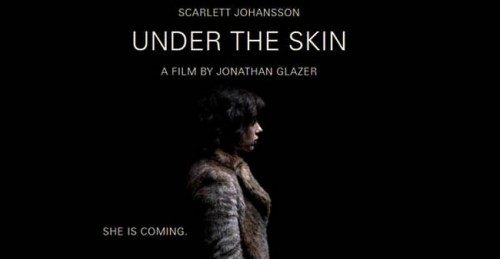 Under The Skin Free Tickets   under the skin movie poster she is coming 500x259 news